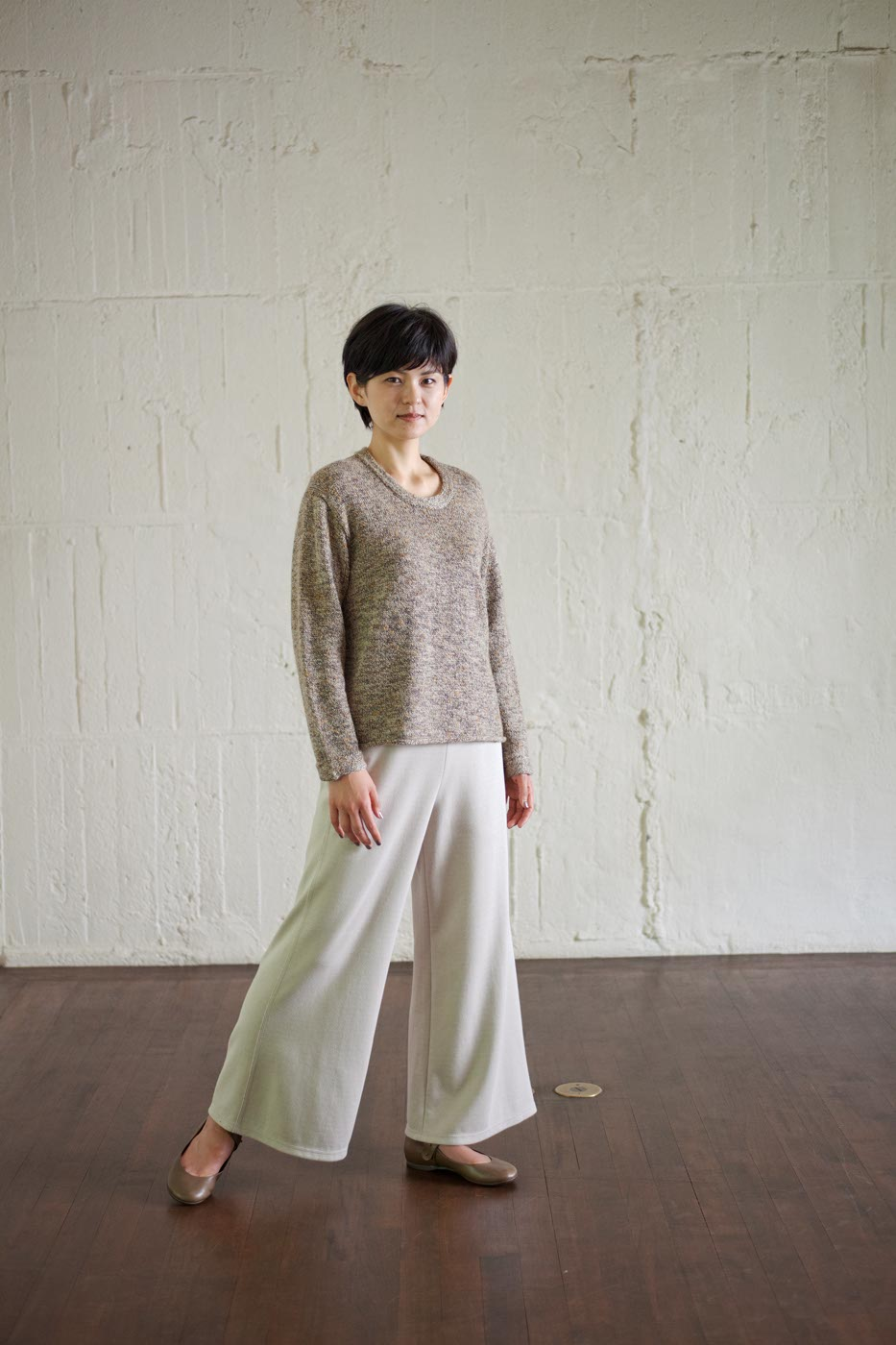 Sweater Made of Wool and Cotton