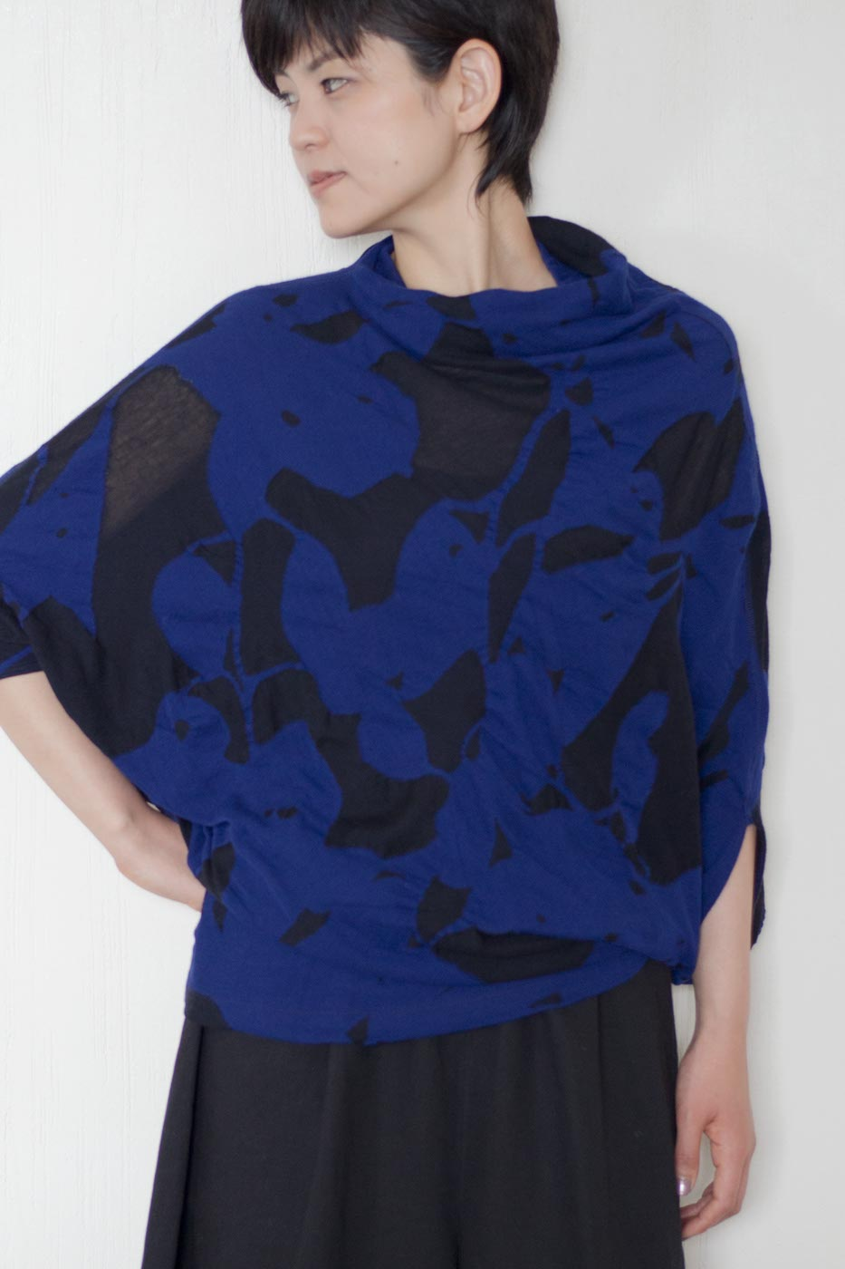 Blouse Made of Cotton Double Jaquard