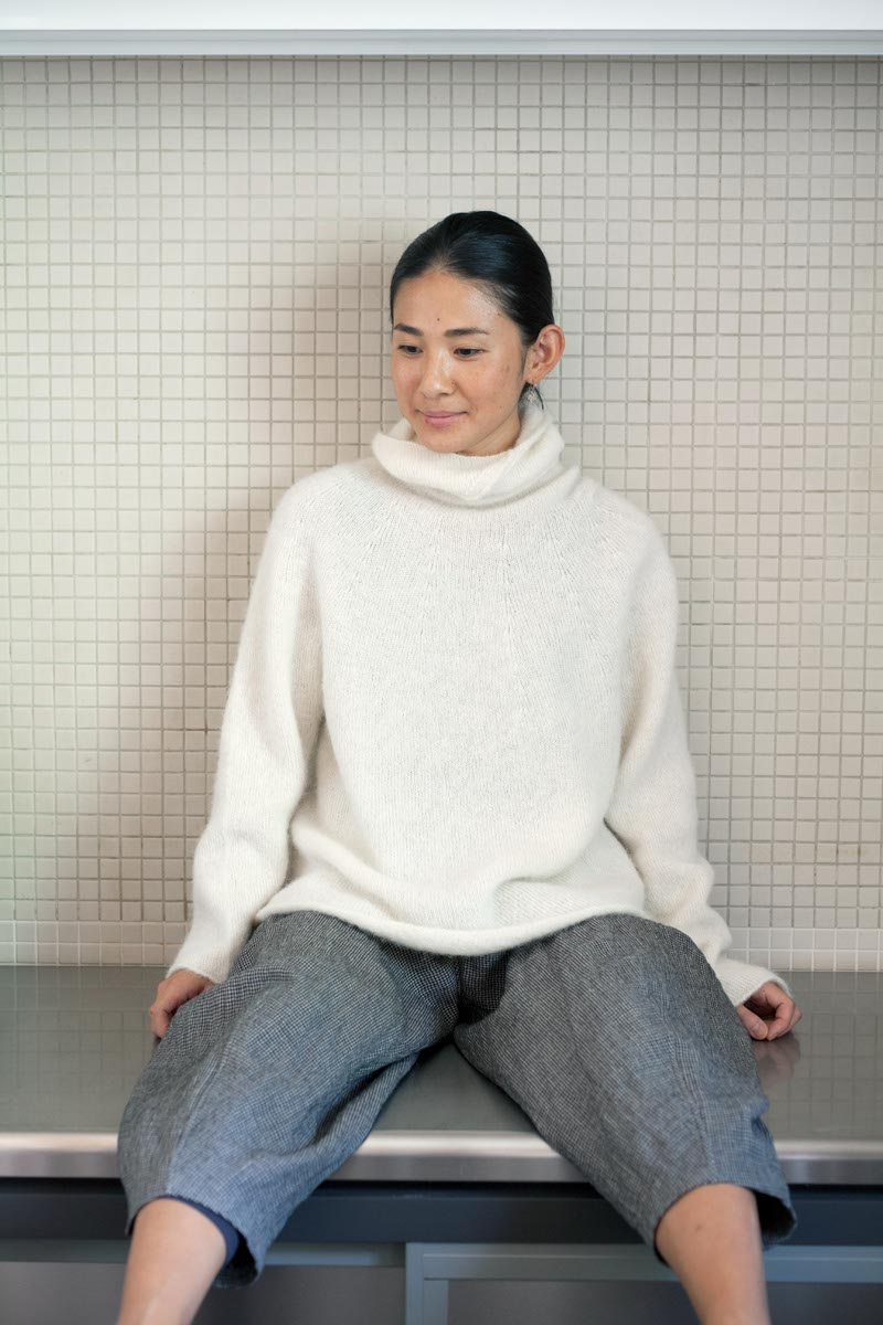Sweater Made of Brushed Alpaca Wool