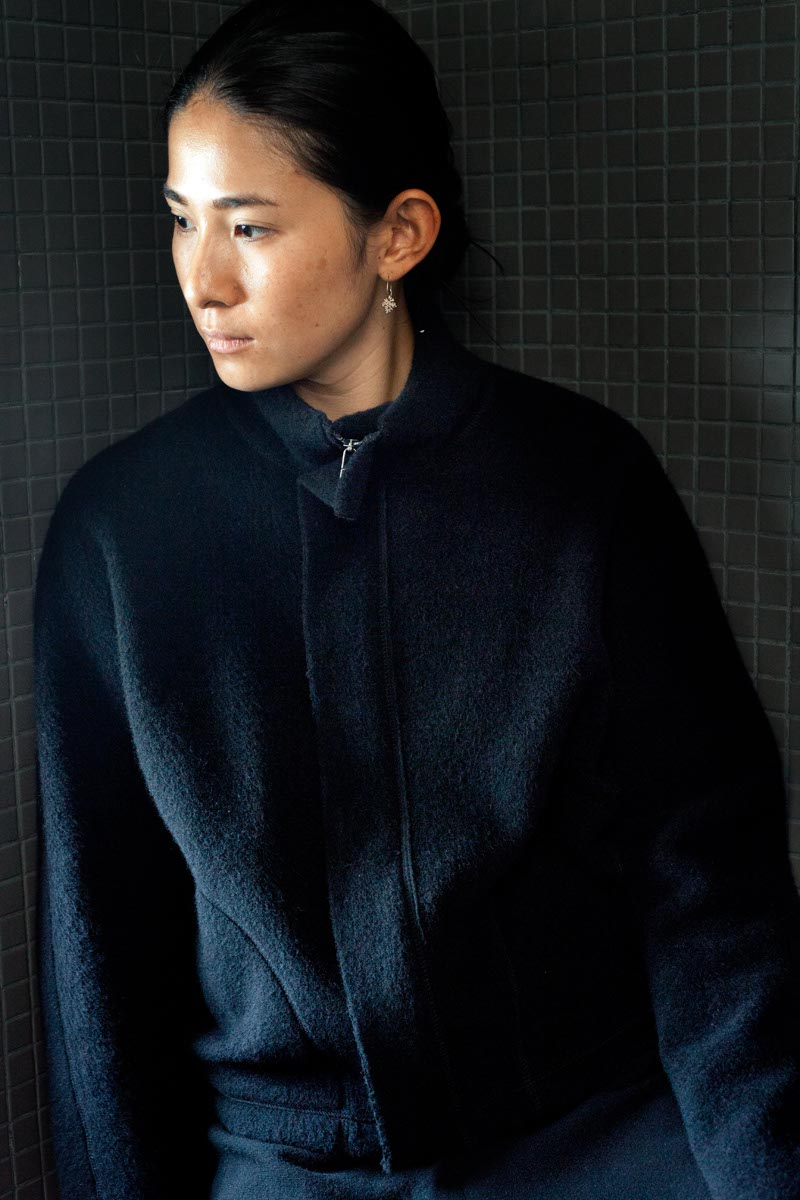 Fleece Jacket Made of Wool and Cotton