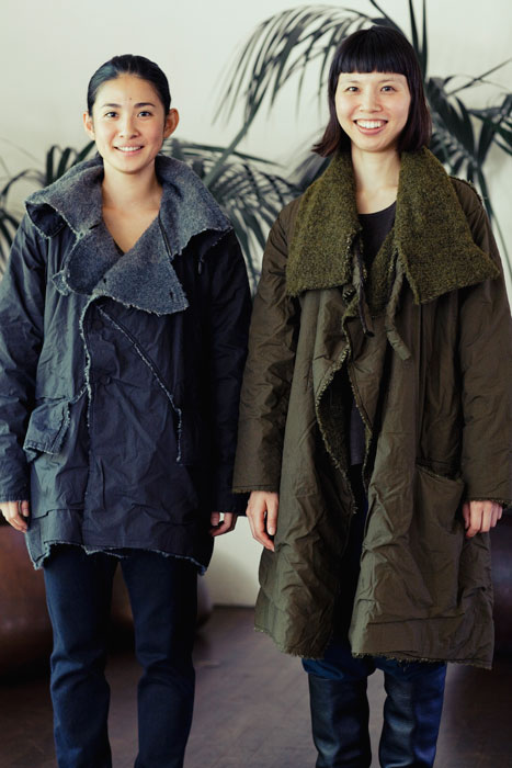 Babaghuri 2011 winter: Jacket and Coat Made of Wool and Felted Cotton