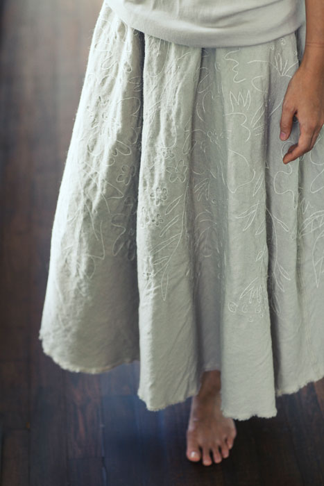 Jurgen Lehl 2011 winter: Hand Embroidered Skirt