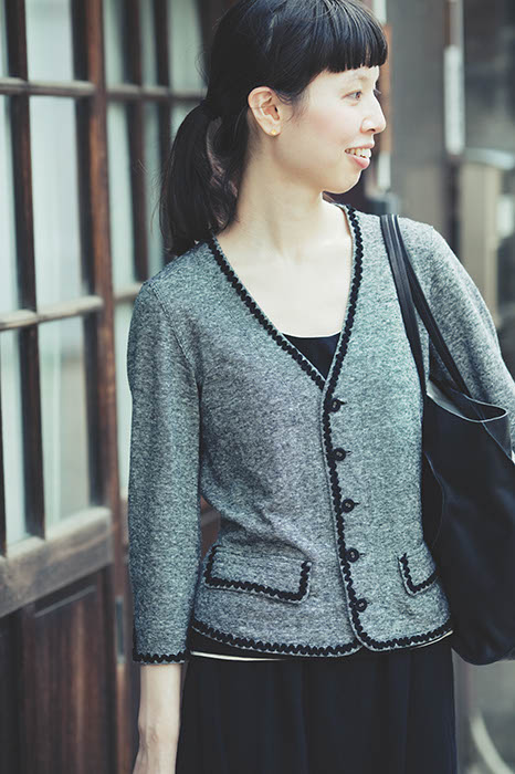Cardigan Made of Hemp and Cotton