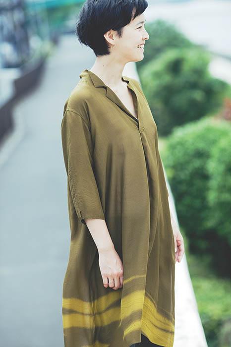 Jurgen Lehl: Dress made of Tye Died Chiffon Silk