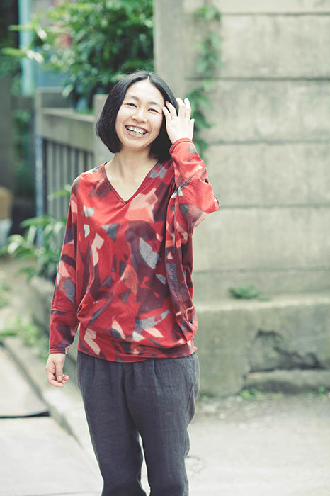 Gradation Printed Blouse