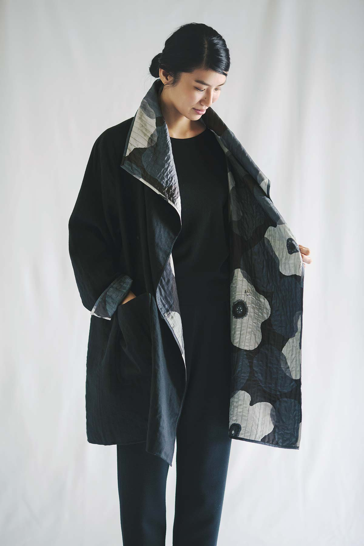 Coat Made of Tusser Silk and Wool