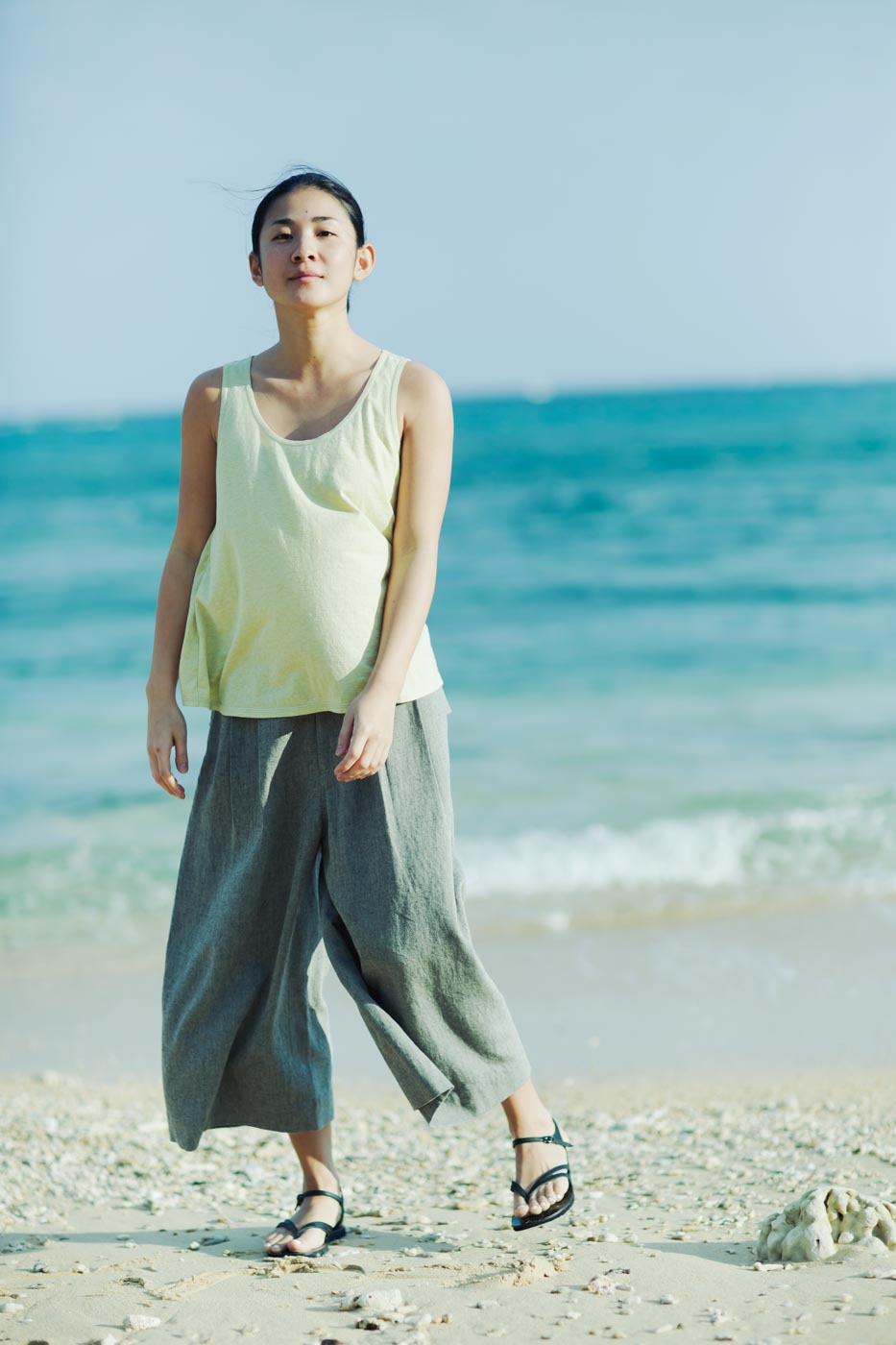 Babaghuri: Trousers Made of Cotton Linen Twill