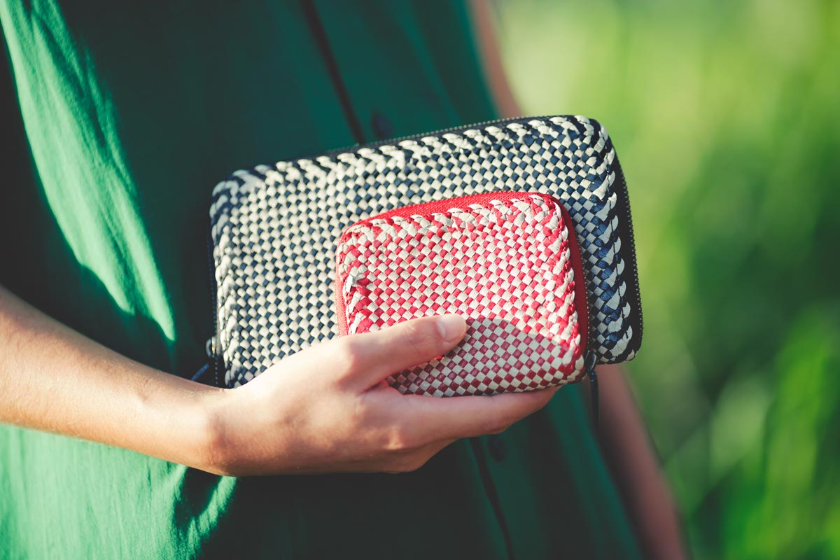 Chequered Pattern Wallet