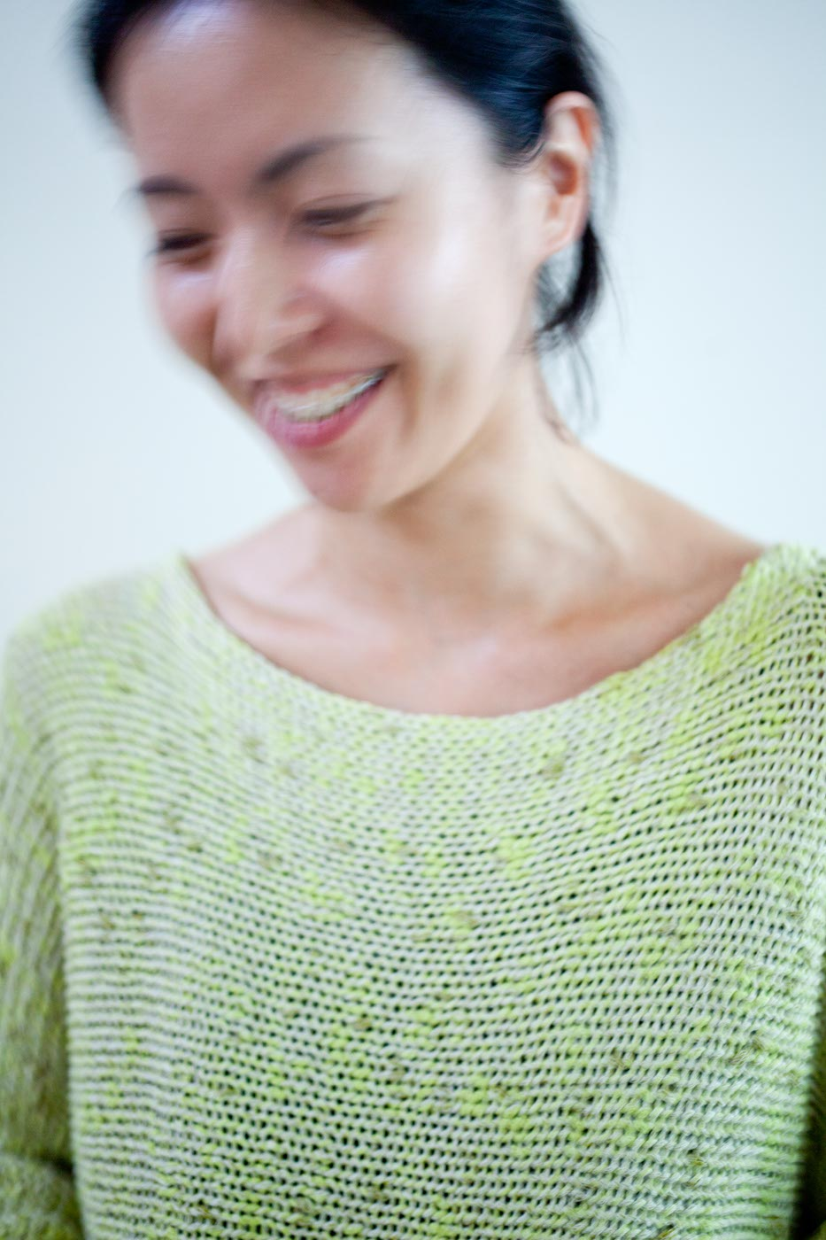 Babaghuri Knit Sweater Made of Cotton and Washi Paper