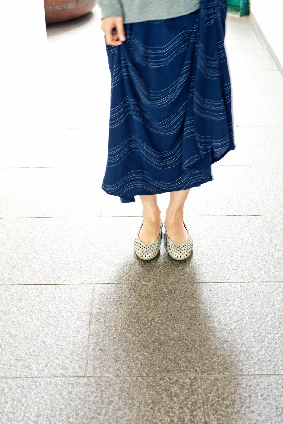 Babaghuri wave skirt