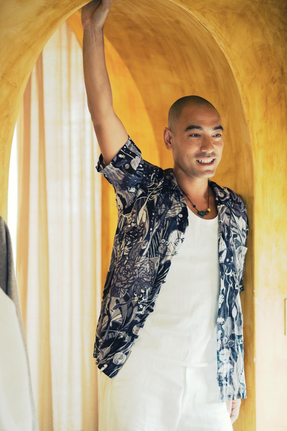 Jurgen Lehl Shirt of Ramie Fabric