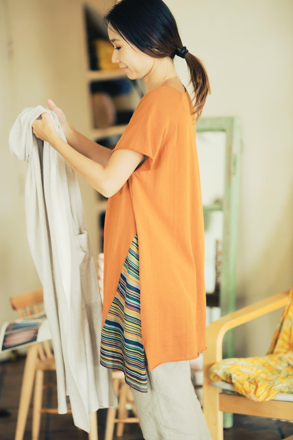 Jurgen Lehl Long Blouse Made of Cotton, Linen and Silk